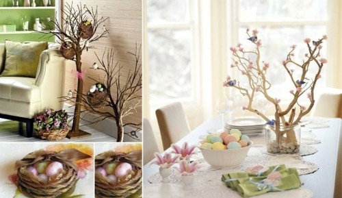 easter tree decorated with taste 100 ideas for original easter decoration - Easter Decoration