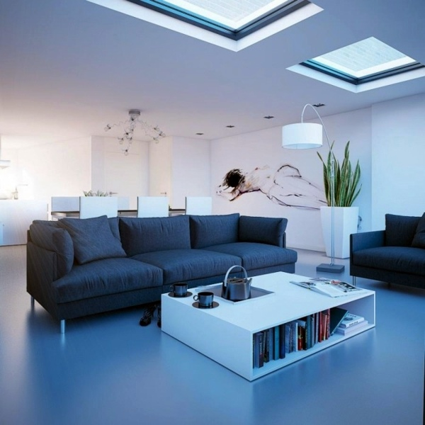 In Black And White Gartenmöbel   Living Room With Skylight   Ideas And  Suggestions