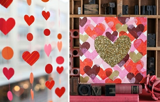 ... DIY Valentine's Day ideas for your romantic decoration
