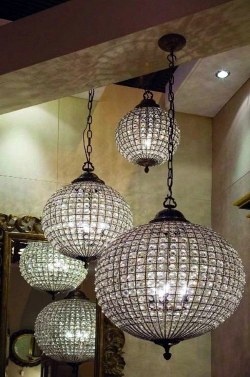 Glass ball chandelier decoration 13 ideas for beautiful ambience glass ball chandelier decoration 13 ideas for beautiful ambience mozeypictures Choice Image