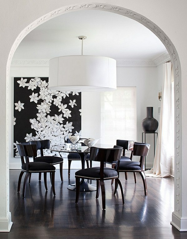 large pendant lights in the dining room modern pendant. Black Bedroom Furniture Sets. Home Design Ideas