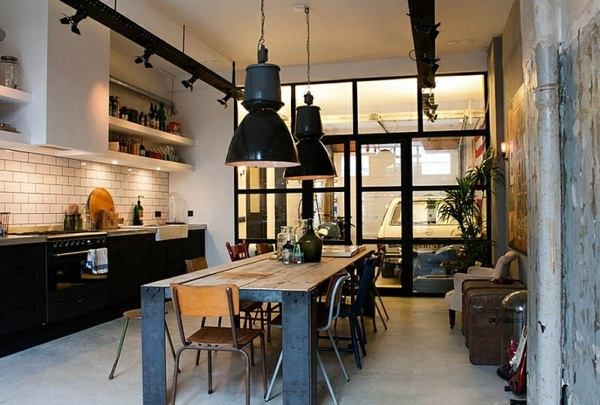 combined rustic and industrial large pendant lights in the dining room modern pendant lamps - Pendant Lights In Dining Room