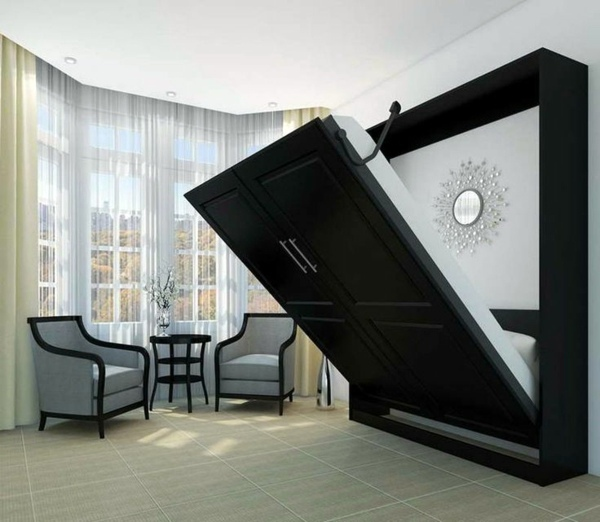 Murphy bed build yourself trendy space saving interior for Space saving interior design ideas