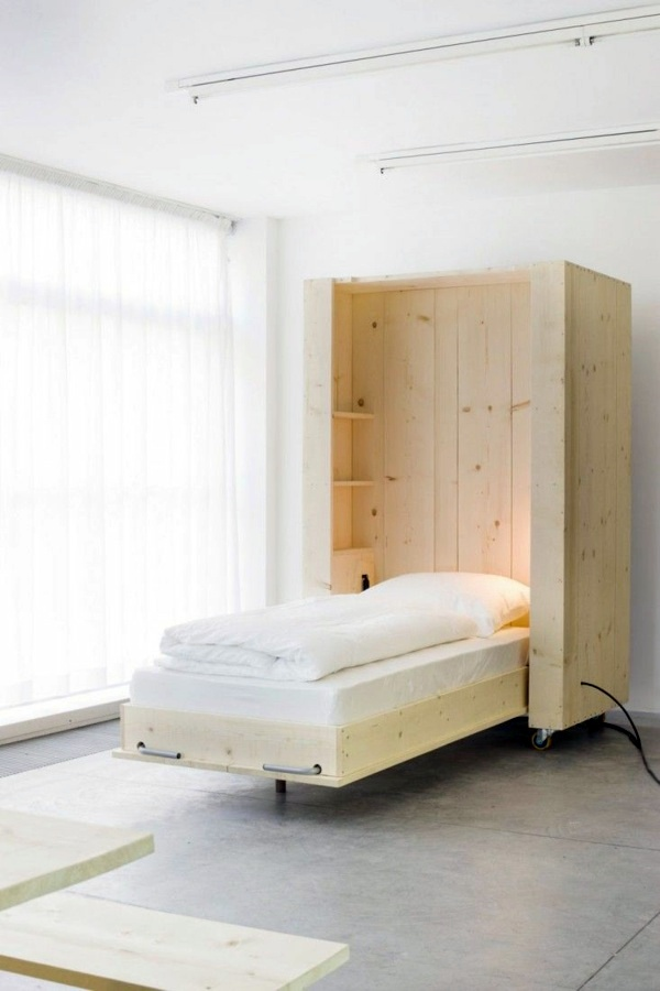 on wheels murphy bed build yourself trendy spacesaving interior design ideas