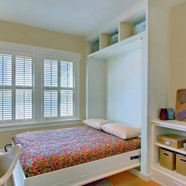 Murphy bed build yourself trendy space saving interior - Space saving cabinet ideas ...