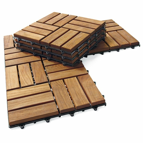 Terrace with teak wood flooring modern solution for any outdoor