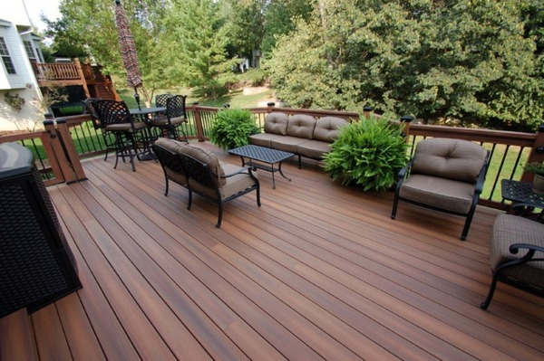 Terrace with teak wood flooring – modern solution for any outdoor ...