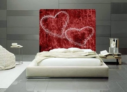 Wall Decoration For Valentines Day 20 Ideas More Romance In The Bedroom Bold Saturated Colors
