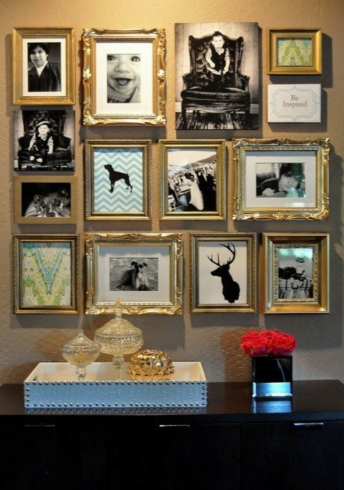 Cool wall art make a photo wall with family photos interior diy do it yourself cool wall art make a photo wall with family solutioingenieria Image collections