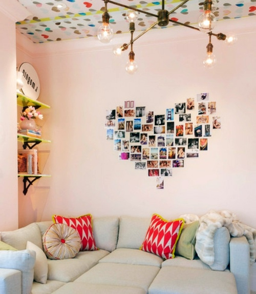 ... Cool Wall Art   Make A Photo Wall With Family Photos