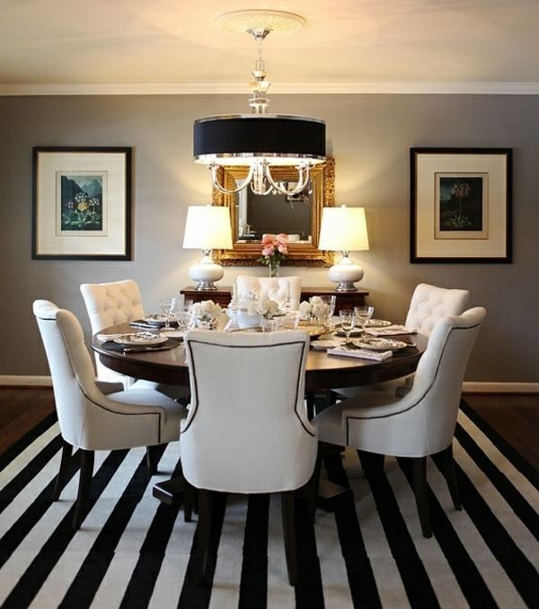 Classic Black And White Restaurant Dining Room Design   Interior Ideas In  Trend
