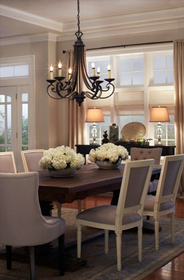 Elegant Chandelier With Candles Dining Room Design   Interior Ideas In Trend