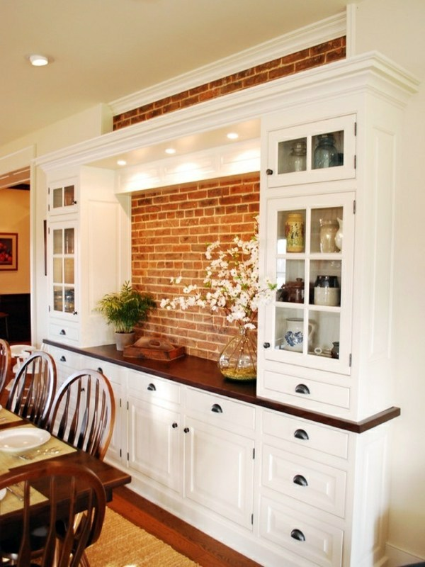 Like Rustic Brick Wall Dining Room Design   Interior Ideas In Trend