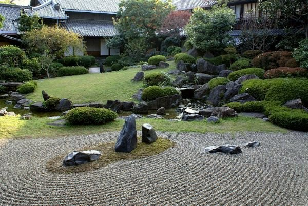 the japanese garden original ideas for outdoor decoration river stones and a stone bridge - Japanese Garden Stone Bridge