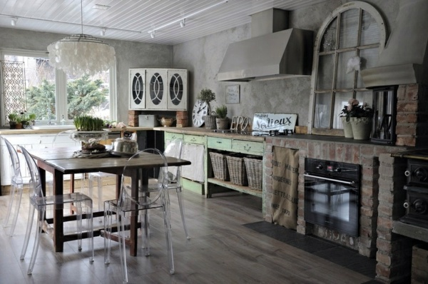 Cleverly With Transparent Chairs 30 Stylish Kitchen Designs For Modern  Kitchen Shabby Chic ...
