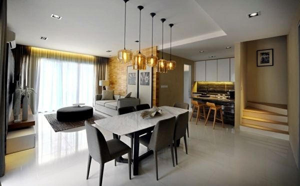 refined interior design cool townhouse design in the valley kuala lumpur a mixture of creative details - Townhouse Design Ideas