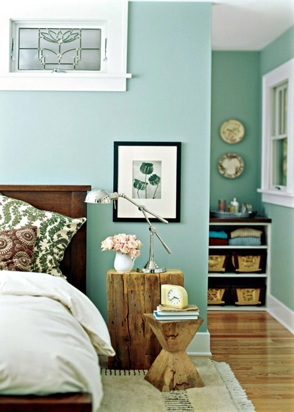Green Color Bedroom Ideas Part - 27: Wall Color Mint Green Gives Your Living Room A Magical Flair