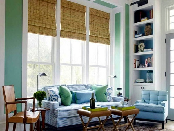 The natural look is Wall color mint green gives your living room a magical  flair. Wall color mint green gives your living room a magical flair