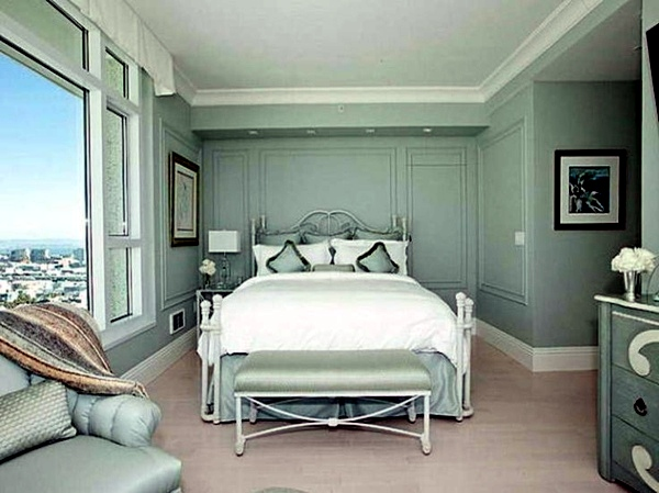 Wall color mint green gives your living room a magical flair ...