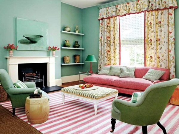 Attractive ... Wall Color Mint Green Gives Your Living Room A Magical Flair