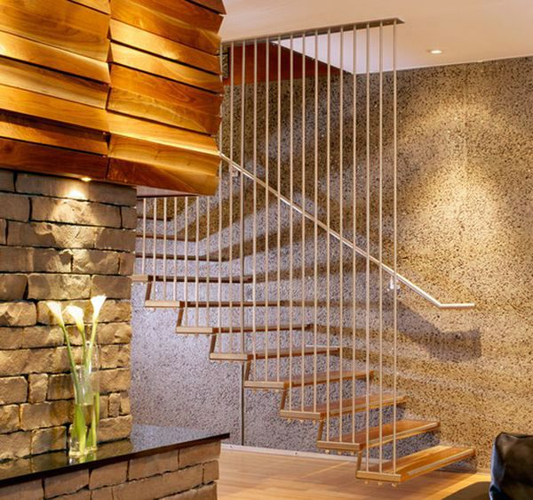 Lighting Basement Washroom Stairs: 32 Floating Staircase Ideas For Contemporary Home