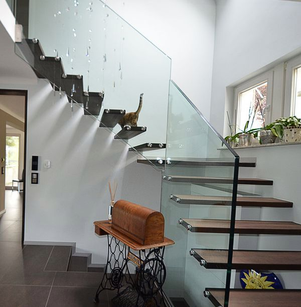 Suspended Style 32 Floating Staircase Ideas For The: 32 Floating Staircase Ideas For Contemporary Home