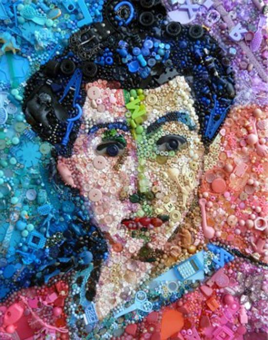 Wanddekoration - Contemporary art from recycled materials by Jane Perkins