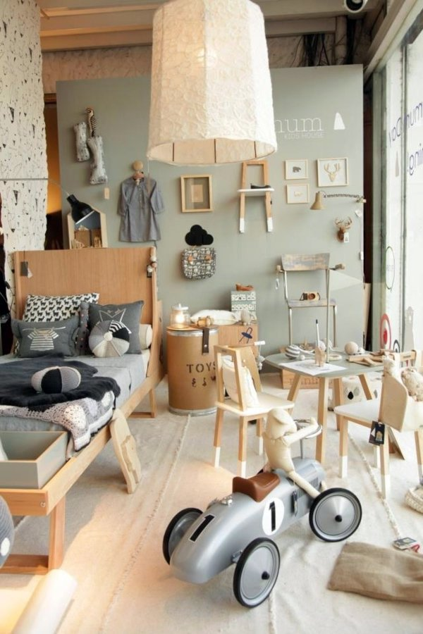 Creative Room Design Ideas Part - 17: Bedroom Furniture And Wooden Toys Childrenu0027s Room Design - Creative Ideas  In Color