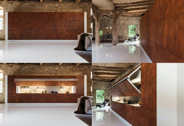 Modern Kitchen Hidden Innovative Design By Warendorf Interior Design Idea