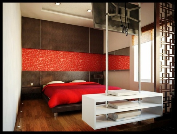 Freestanding shelves by the bed The bedroom completely customize   12 cozy  interiors. The bedroom completely customize   12 cozy interiors   Interior