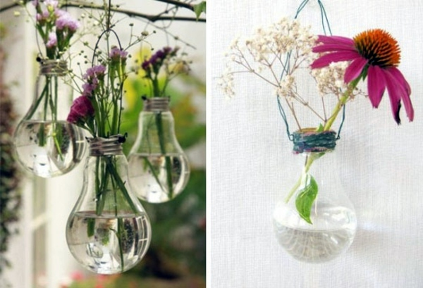 DIY decoration from bulbs - 120 craft ideas for old light bulbs