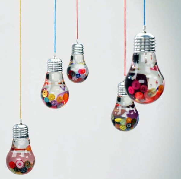 Diy Decorating Crafts diy decoration from bulbs – 120 craft ideas for old light bulbs