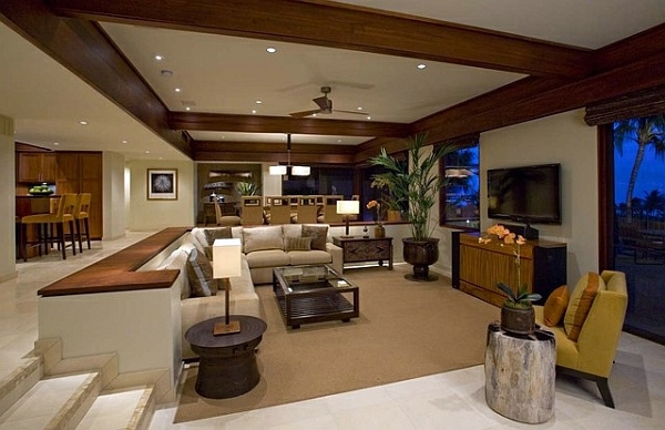 living tropical decor that inspires you in the cold winter - Tropical Interior Design Living Room