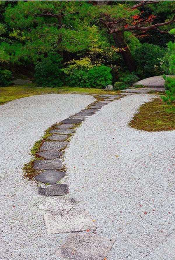 Path Of Stone Slabs Creating A Zen Garden   The Main Elements Of The Japanese  Garden Part 94