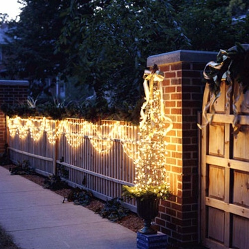Decorate A Fence: Festive Garden Lighting For Christmas