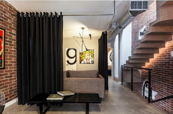 Style Pop Art Use Curtain Room Divider