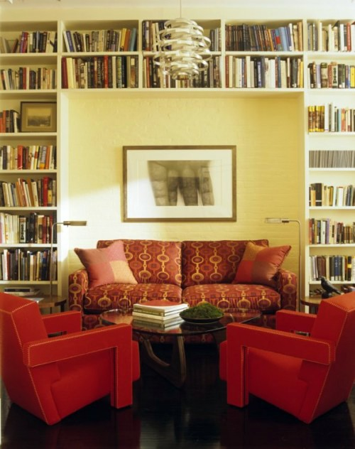 Living Room Library Design Ideas: Elegant House Library -15 Fabulous Design Ideas