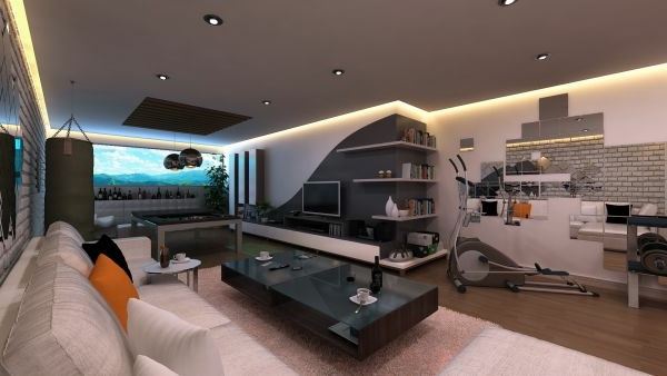 ceiling integrated flexible luxury living room set 70 modern interior design ideas