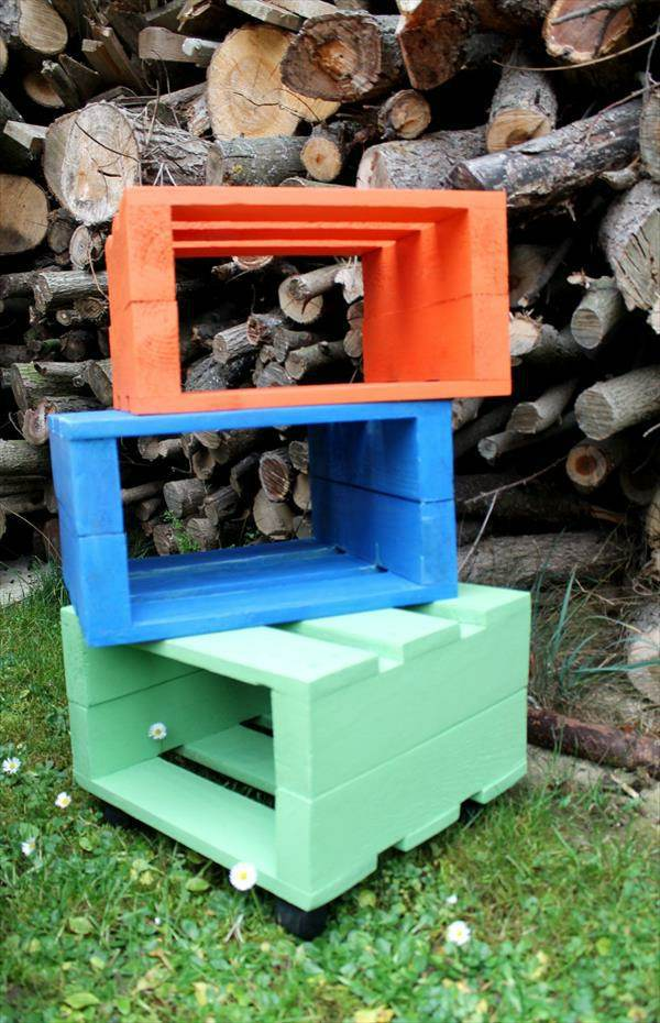 Stool Wooden Pallets Colors And Usefulness Interior