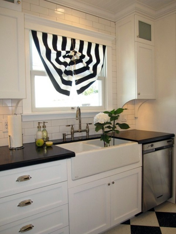 Simply Black And White The Right Kitchen Curtains 18 Designs For A Cozy  Interior