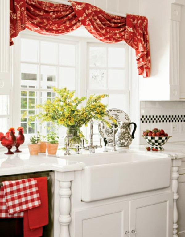 The right kitchen curtains – 18 designs for a cozy interior ...