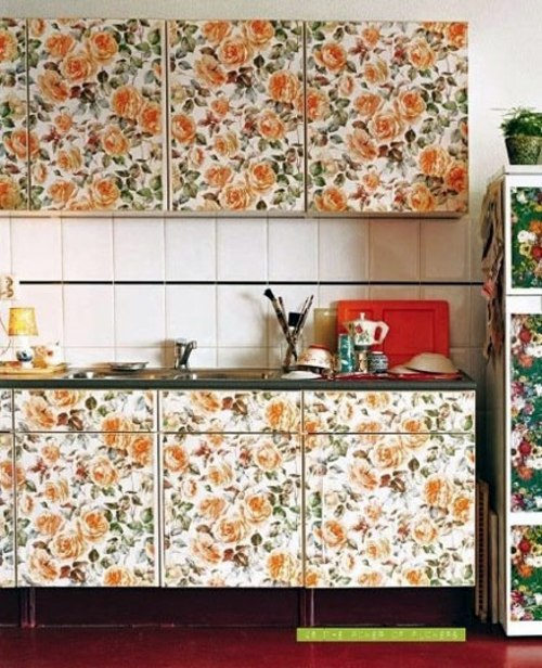 20 creative ideas for wallpaper in the kitchen area | Interior ... on