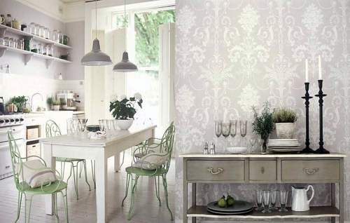 20 Creative Ideas For Wallpaper In The Kitchen Area