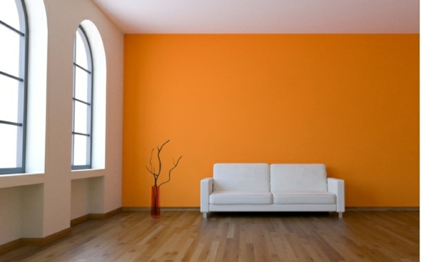 Painting walls – ideas for the living room  Interior ...