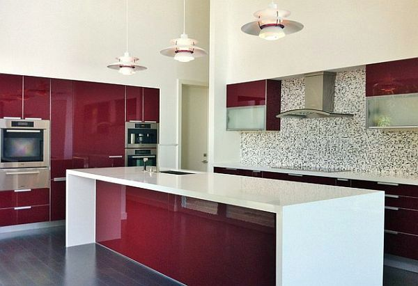 cool red color for the kitchen with momentum   interior design