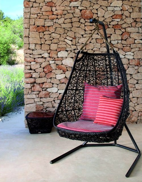 Medium image of designer hammock chair rattan outdoor by patricia urquiola