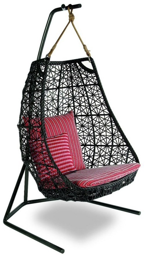 Designer hammock chair Rattan Outdoor by Patricia Urquiola