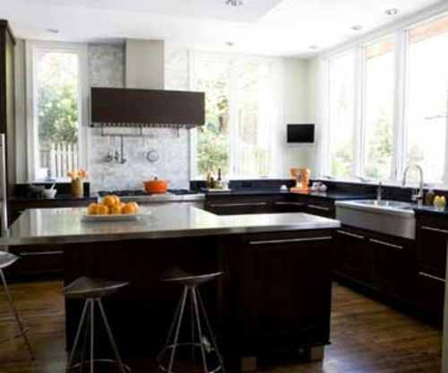 Unique Design Ideas For Kitchen With Many Windows
