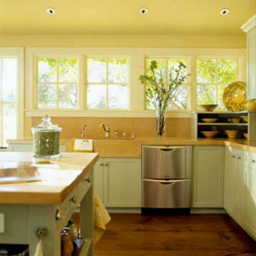 surprising kitchen lots windows   Unique Design Ideas for Kitchen with many windows ...