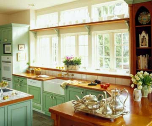 unique design ideas for kitchen with many windows interior